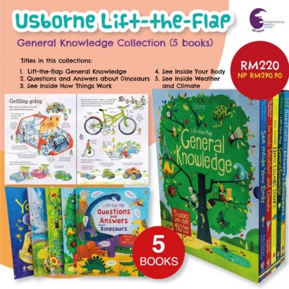 5 books of Lift the Flap General Knowledge