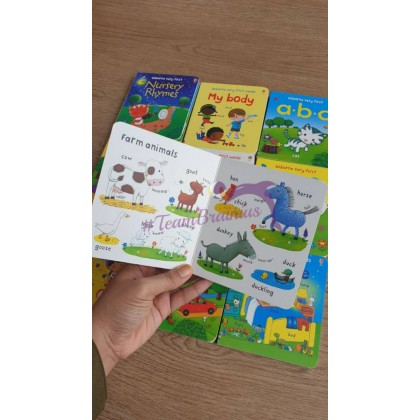 USBORNE very first words (10 board books) suitable for beginner 0-5 years
