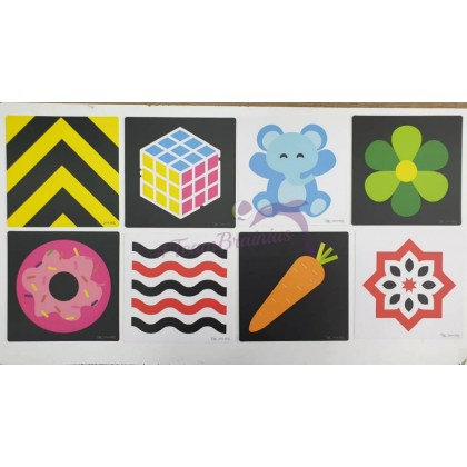 Baby Flashcards Black, White and colourful 0-3m, 3-6m, 6-9m for visual development