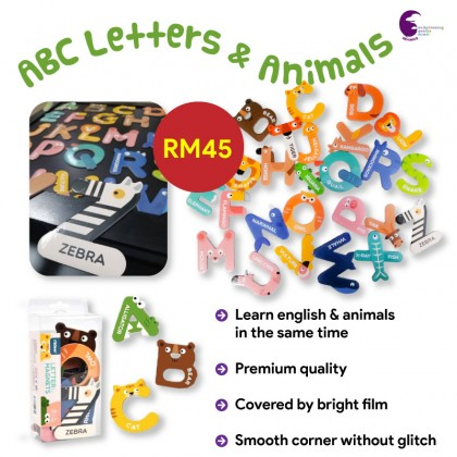 ABC letters and animal magnet educational toys