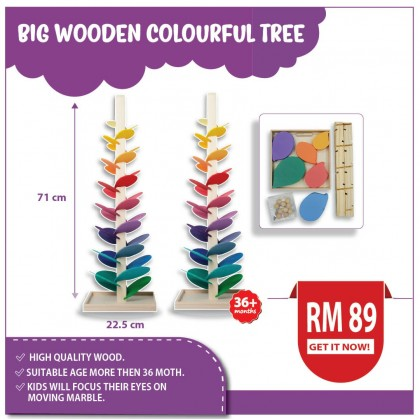 BIG WOODEN COLOURFUL TREE