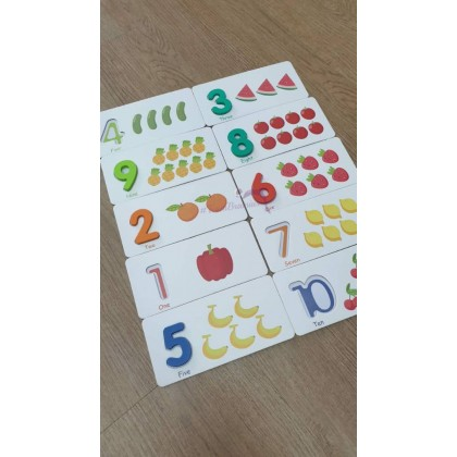 3D Alphabet & 1-10 Numbers With Cards educational toys