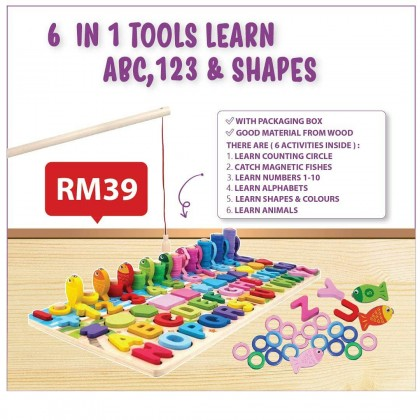 6 IN 1 TOOLS LEARN ABC, 123 & SHAPES